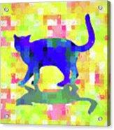 Cubist Cat Acrylic Print