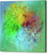 Cubist Rainbow Clouds Acrylic Print