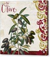 Cucina Italiana Olives Acrylic Print