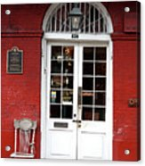Cucullo Row Historic Marker Acrylic Print
