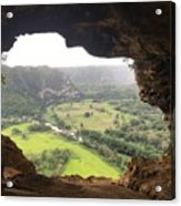 Cueva Ventana Acrylic Print