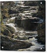 Cullasaja Falls In Autumn Close Up Acrylic Print