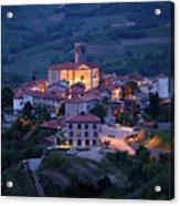 Cultural Heritage Monument Medieval Hilltop Village Of Smartno B Acrylic Print