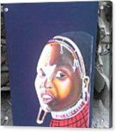 cultural Masaai Woman Acrylic Print