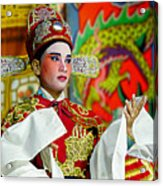 Cultural Opera Actor In Red Acrylic Print