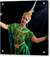 Cultural Thai Dance Acrylic Print