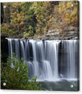 Cumberland Falls In Green Acrylic Print