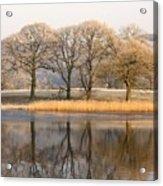 Cumbria, England Lake Scenic With Acrylic Print