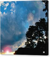 Cumulonimbus Clouds At Sunset Acrylic Print
