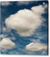 Cumulus Clouds With Nature Patterns Acrylic Print
