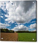 Cumulus Skies In France Acrylic Print