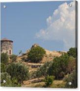 Cunda Island Greek Windmill Acrylic Print