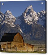 Cunningham Cabin In Front Of Grand Acrylic Print