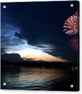 Cup Fireworks Acrylic Print