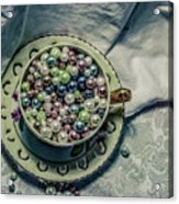 Cup Of Beads Acrylic Print