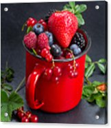 Cup Of Fresh Berries Acrylic Print