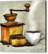 Cup Of The Hot Black Coffee Acrylic Print
