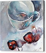 Cup With Cherry Acrylic Print
