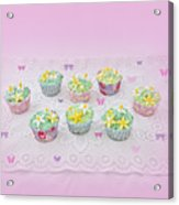 Cupcakes And Butterflies Acrylic Print