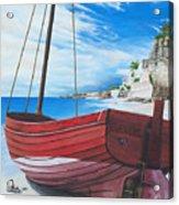 Cupecoy Beach Acrylic Print