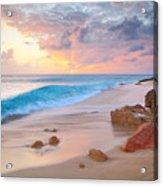 Cupecoy Beach Sunset Saint Maarten Acrylic Print