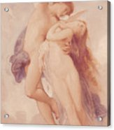 Cupid And Psyche Acrylic Print by William Adolphe Bouguereau