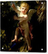 Cupid In A Tree Acrylic Print