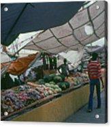 Curacao Market Acrylic Print
