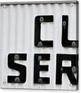 Curb Service Sign Acrylic Print