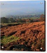 Curbar Edge Curbar Valley Derbyshire Acrylic Print