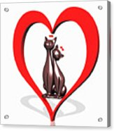 Curiosity Heart Loves The Cats Acrylic Print