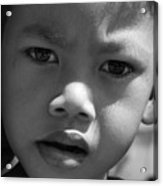 Curious Cambodian Child Acrylic Print