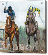 Curlin - Comin Home At The Preakness Acrylic Print