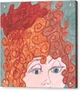 Curly Red Hair Acrylic Print