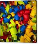 Curly Ribbons  Acrylic Print