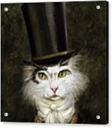 Curmudgeon Cat Acrylic Print