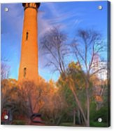 Currituck Lighthouse In Winter Outer Banks Ap Acrylic Print