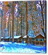 Curry Cabins Christmas Day Acrylic Print