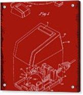 Cursor Control Device Patent Drawing 1n Acrylic Print