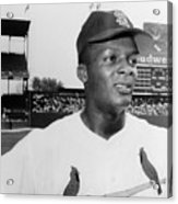 Curt Flood (1938- ) Acrylic Print by Granger