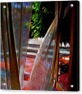 Curtains Blow Away And Back Again Acrylic Print