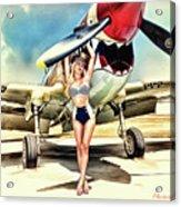 Curtis P-40 Warhawk Acrylic Print