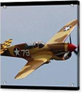 Curtis P-40n Warhawk Acrylic Print