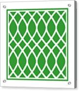 Curved Trellis With Border In Dublin Green Acrylic Print
