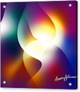 Curves And Light Acrylic Print
