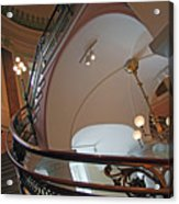 Stairs With Curved Lines Acrylic Print