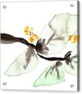 Curving Leafy Green Acrylic Print