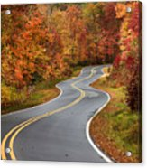 Curvy Road In The Mountains Acrylic Print