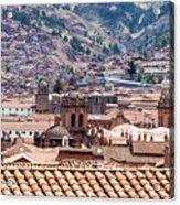 Cusco Cityscape Acrylic Print