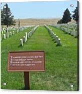 Custer National Cemetery Acrylic Print